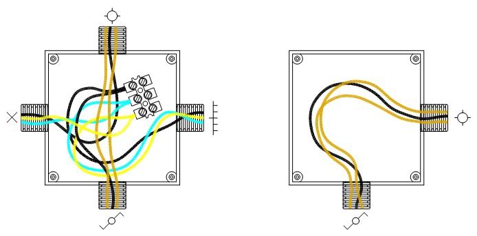 Instalación de un punto de luz conmutado